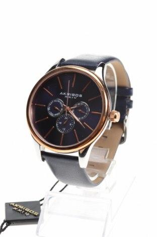Ρολόι Akribos XXIV, Χρώμα Μπλέ, Γνήσιο δέρμα, μέταλλο, Τιμή 243,17€
