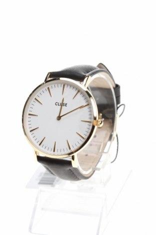 Ρολόι Cluse, Χρώμα Μαύρο, Γνήσιο δέρμα, μέταλλο, Τιμή 67,73€