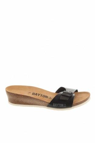 Чехли Bayton, Размер 38, Цвят Черен, Еко кожа, Цена 63,19лв.