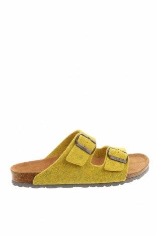 Чехли Bayton, Размер 37, Цвят Жълт, Текстил, Цена 66,75лв.