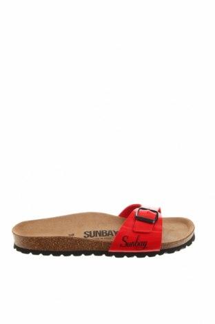 Чехли Sunbay, Размер 38, Цвят Червен, Еко кожа, Цена 54,29лв.