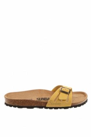 Чехли Sunbay, Размер 38, Цвят Жълт, Естествен велур, Цена 45,90лв.