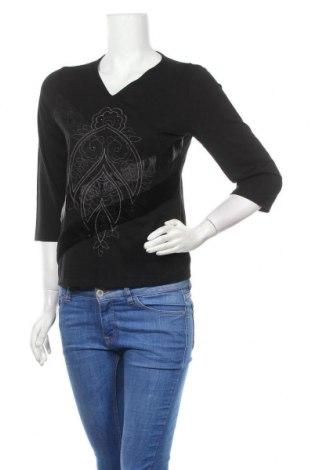 Дамска блуза, Размер S, Цвят Черен, 92% вискоза, 8% еластан, Цена 3,00лв.