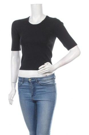 Дамска блуза Abercrombie & Fitch, Размер S, Цвят Черен, 57% памук, 39% полиестер, 4% еластан, Цена 43,07лв.
