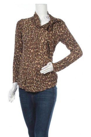 Дамска блуза Alba Moda, Размер M, Цвят Кафяв, Коприна, Цена 19,95лв.