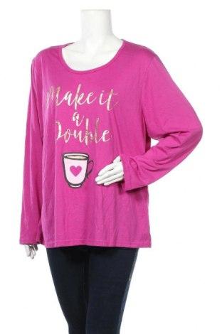 Γυναικεία μπλούζα Avella, Μέγεθος XXL, Χρώμα Βιολετί, Πολυεστέρας, βαμβάκι, Τιμή 11,72€