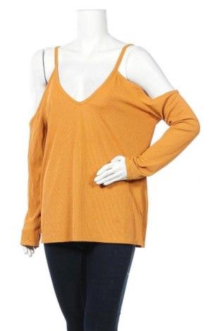 Дамска блуза Boohoo, Размер XL, Цвят Оранжев, 95% полиестер, 5% еластан, Цена 16,96лв.