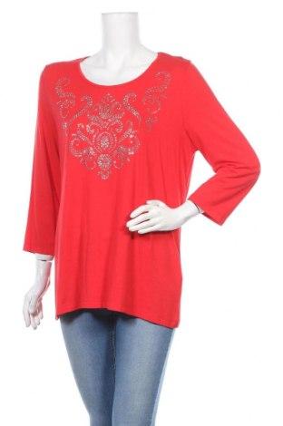 Дамска блуза Canda, Размер L, Цвят Червен, 95% вискоза, 5% еластан, Цена 4,08лв.