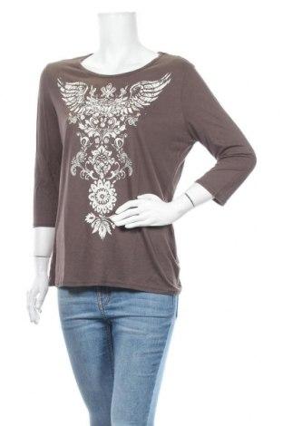 Дамска блуза Casa Blanca, Размер L, Цвят Кафяв, Вискоза, Цена 12,29лв.