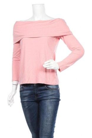 Дамска блуза Clothing & Co, Размер XXL, Цвят Розов, 59% полиестер, 33% вискоза, 8% еластан, Цена 28,93лв.