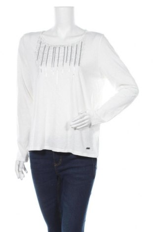 Дамска блуза Essentials by Tchibo, Размер M, Цвят Бял, 100% памук, Цена 7,56лв.