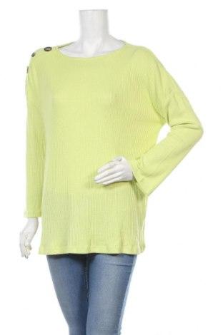 Дамска блуза Evans, Размер XL, Цвят Зелен, 80% вискоза, 17% полиестер, 3% еластан, Цена 17,59лв.