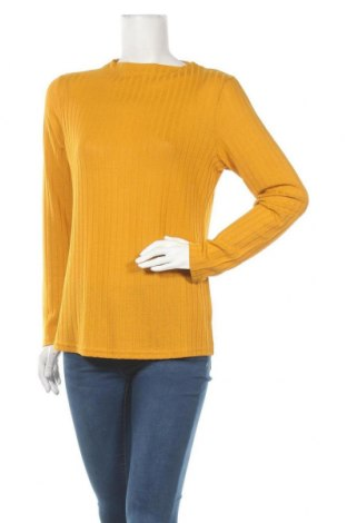 Дамска блуза Free Quent, Размер XL, Цвят Жълт, 50% полиестер, 45% вискоза, 5% еластан, Цена 16,17лв.