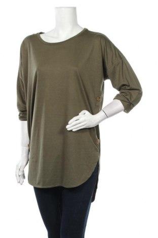 Дамска блуза Free Quent, Размер L, Цвят Зелен, 80% полиестер, 20% вискоза, Цена 10,71лв.