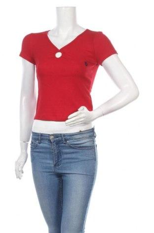 Γυναικεία μπλούζα Hollister, Μέγεθος S, Χρώμα Κόκκινο, 65% πολυεστέρας, 31% βισκόζη, 4% ελαστάνη, Τιμή 12,06€