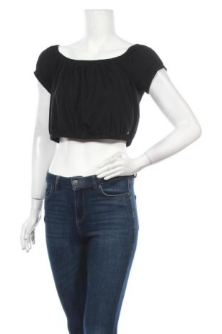 Γυναικεία μπλούζα Hollister, Μέγεθος L, Χρώμα Μαύρο, Βαμβάκι, Τιμή 12,66€