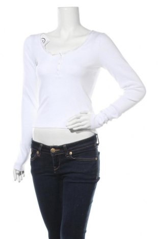 Γυναικεία μπλούζα Hollister, Μέγεθος M, Χρώμα Λευκό, 56% βαμβάκι, 38% πολυεστέρας, 6% ελαστάνη, Τιμή 11,91€