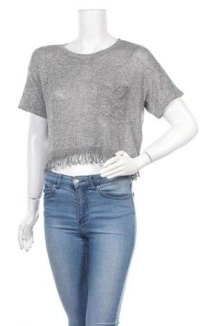 Γυναικεία μπλούζα Hollister, Μέγεθος S, Χρώμα Ασημί, 47% πολυεστέρας, 42% βισκόζη, 8% μεταλλικά νήματα, Τιμή 8,28€