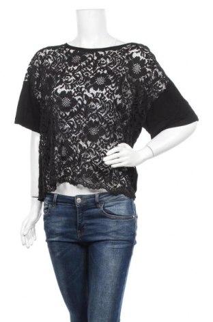 Дамска блуза Lindex, Размер L, Цвят Черен, Вискоза, полиамид, Цена 17,01лв.