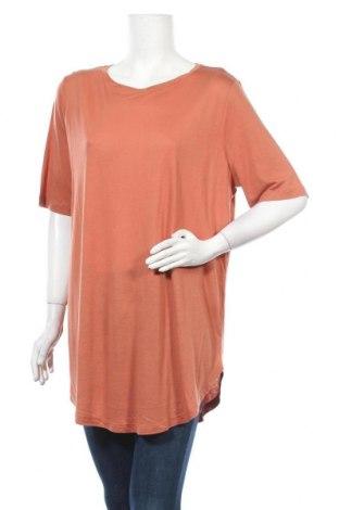 Дамска блуза Lindex, Размер L, Цвят Оранжев, 55% лиосел, 45% вискоза, Цена 15,75лв.