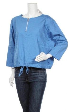 Дамска блуза Lindex, Размер L, Цвят Син, 97% памук, 3% еластан, Цена 17,96лв.