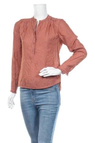 Дамска блуза Luxzuz One Two, Размер S, Цвят Кафяв, 70% вискоза, 30% полиамид, Цена 33,92лв.