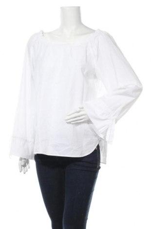 Дамска блуза Marc Cain, Размер XXL, Цвят Бял, Памук, Цена 79,80лв.