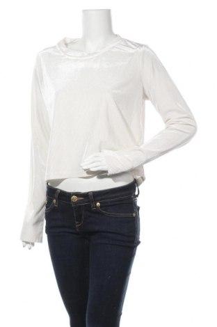 Дамска блуза Mtwtfss Weekday, Размер L, Цвят Бял, 87% полиестер, 13% еластан, Цена 12,50лв.