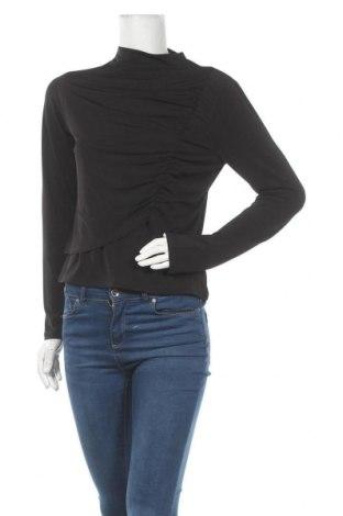 Дамска блуза Na-Kd, Размер L, Цвят Черен, 95% полиестер, 5% еластан, Цена 17,10лв.