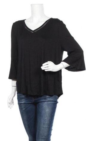 Дамска блуза Now, Размер XXL, Цвят Черен, Вискоза, полиестер, Цена 17,96лв.