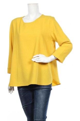 Дамска блуза Opus, Размер XL, Цвят Жълт, 95% полиестер, 5% еластан, Цена 17,96лв.