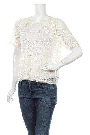 Γυναικεία μπλούζα Pieces, Μέγεθος M, Χρώμα Εκρού, Πολυεστέρας, Τιμή 9,74€