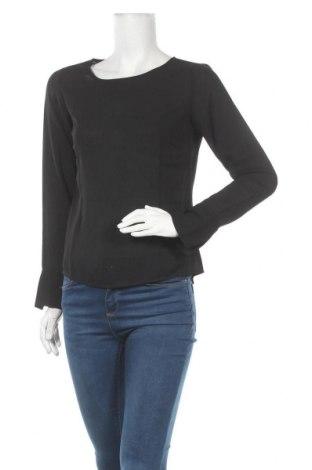 Γυναικεία μπλούζα Pieces, Μέγεθος XS, Χρώμα Μαύρο, Πολυεστέρας, Τιμή 17,68€