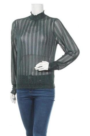 Γυναικεία μπλούζα Pieces, Μέγεθος M, Χρώμα Πράσινο, 85% πολυαμίδη, 8% μεταλλικά νήματα, 7% ελαστάνη, Τιμή 9,94€