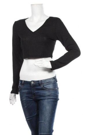 Дамска блуза SHEIN, Размер L, Цвят Черен, 95% полиестер, 5% еластан, Цена 7,56лв.