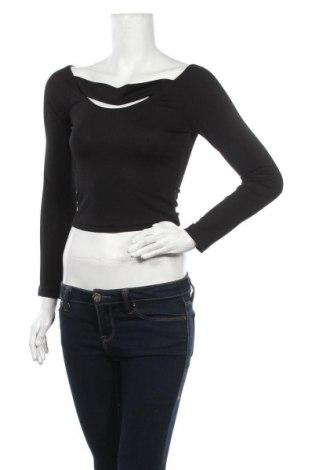 Дамска блуза SHEIN, Размер M, Цвят Черен, 95% полиестер, 5% еластан, Цена 4,46лв.