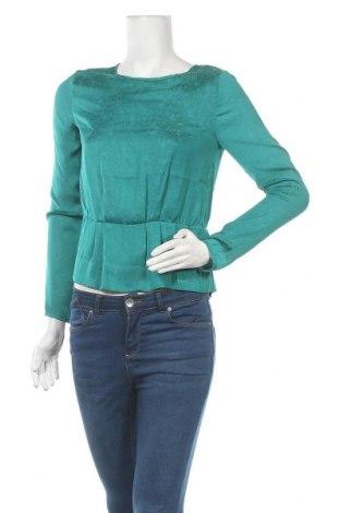 Дамска блуза Samsoe & Samsoe, Размер XS, Цвят Зелен, Полиестер, Цена 55,30лв.