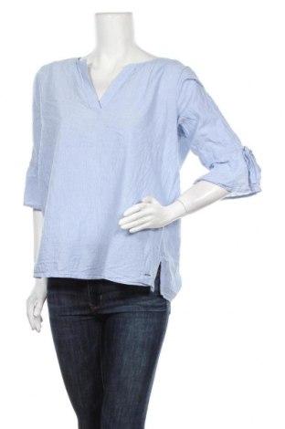 Дамска блуза Triangle By s.Oliver, Размер L, Цвят Син, Памук, Цена 20,53лв.