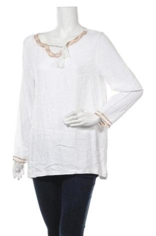 Дамска блуза Triangle By s.Oliver, Размер L, Цвят Бял, Цена 17,64лв.