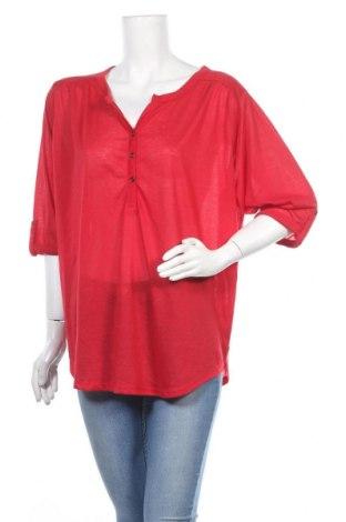 Дамска блуза Vrs Woman, Размер 3XL, Цвят Червен, Полиестер, Цена 15,70лв.