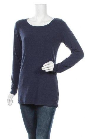 Дамска блуза Vrs Woman, Размер L, Цвят Син, 65% вискоза, 30% полиестер, 5% еластан, Цена 9,45лв.