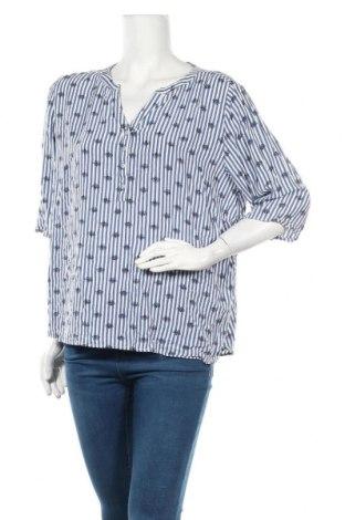 Дамска блуза Women by Tchibo, Размер XL, Цвят Син, Вискоза, Цена 18,90лв.