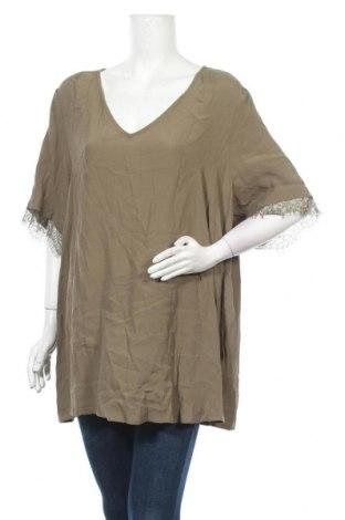 Дамска блуза Zizzi, Размер XXL, Цвят Зелен, Вискоза, Цена 17,01лв.