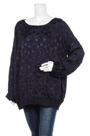 Дамска блуза Zizzi, Размер 4XL, Цвят Син, Вискоза, Цена 22,94лв.