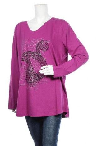 Дамска блуза Zizzi, Размер 4XL, Цвят Лилав, 95% памук, 5% еластан, Цена 13,23лв.