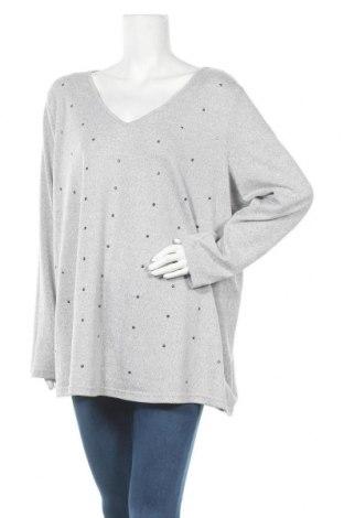Дамска блуза Zizzi, Размер XXL, Цвят Сив, 97% полиестер, 3% еластан, Цена 15,12лв.