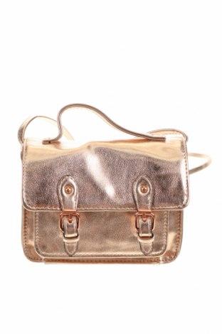 Дамска чанта ASOS, Цвят Златист, Еко кожа, Цена 23,04лв.