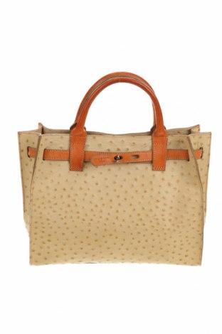 Дамска чанта Tosca Blu, Цвят Бежов, Естествена кожа, Цена 76,50лв.