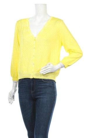 Γυναικεία ζακέτα Expresso, Μέγεθος XL, Χρώμα Κίτρινο, Βαμβάκι, Τιμή 39,33€