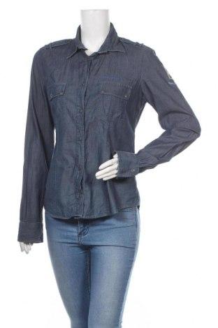 Дамска риза Aeronautica Militare, Размер XL, Цвят Син, Памук, Цена 36,00лв.
